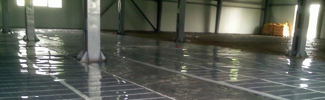 Теплый пол в промышленном здании
